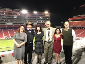 Mystery by design Cast at Levi Stadium.